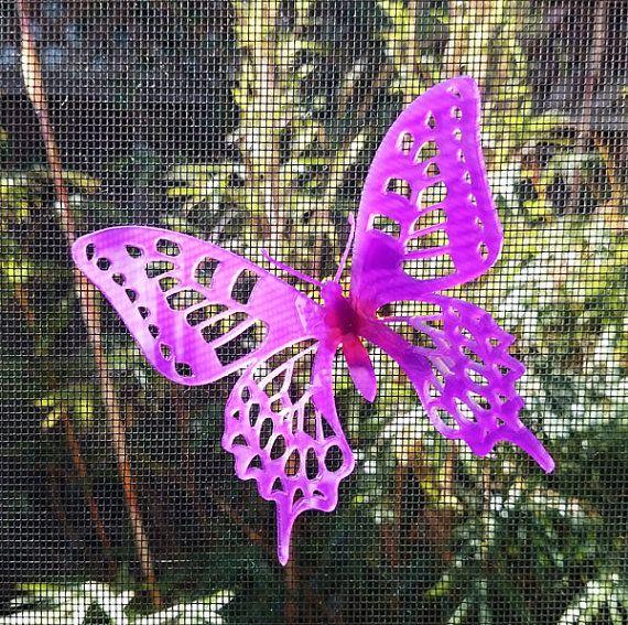 3d magnetic Screen door critter Swallowtail  silver yellow