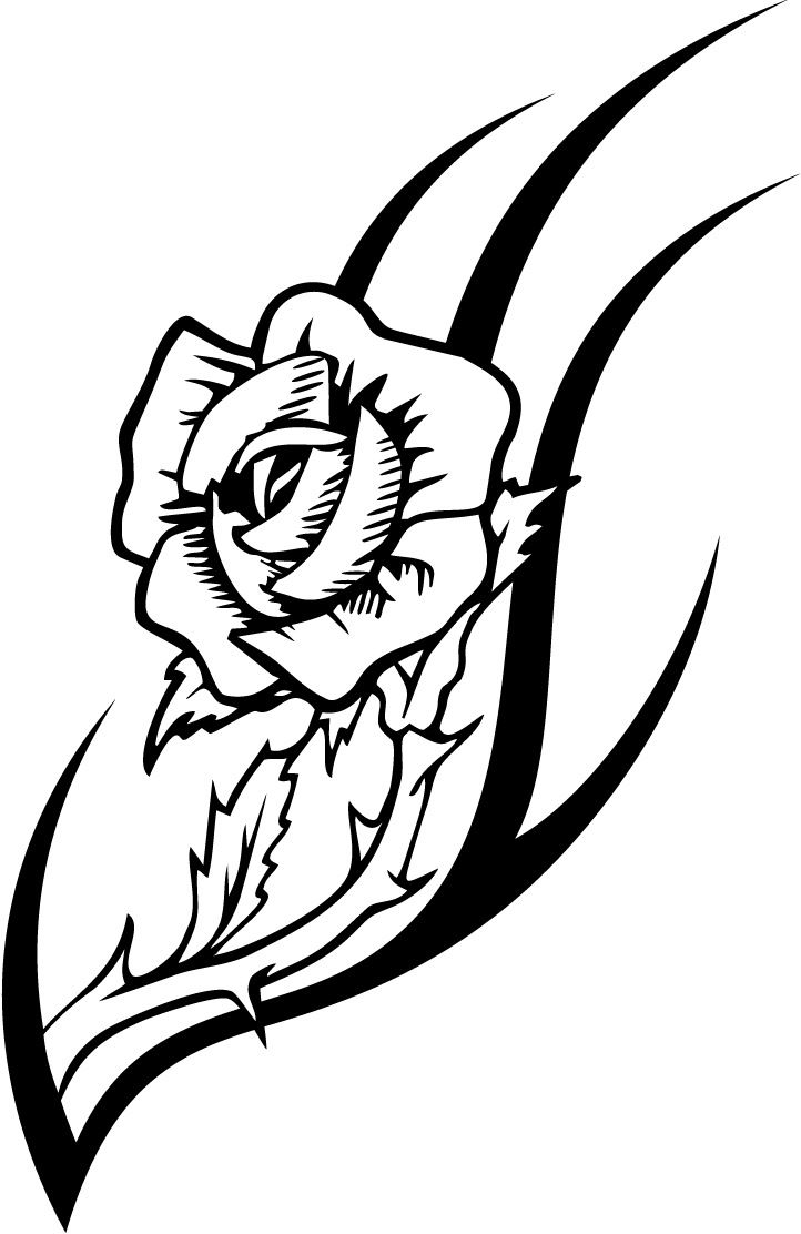 Working Sheet Of A Rose Tattoo Design For Kidz