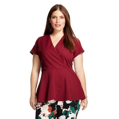 Women's Plus Size Peplum Top