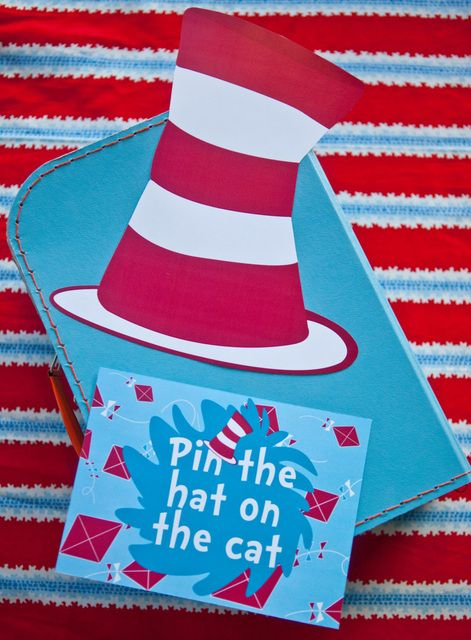 Dr Seuss Cat in the Hat Birthday Party Ideas | Photo 14 of 20 | Catch My Party