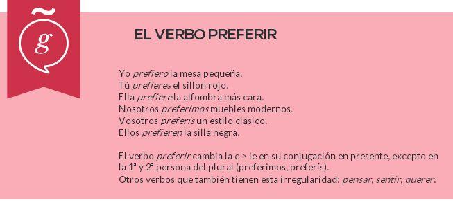 Spanish Verbs: Preferir #Spanish #LearnSpanish