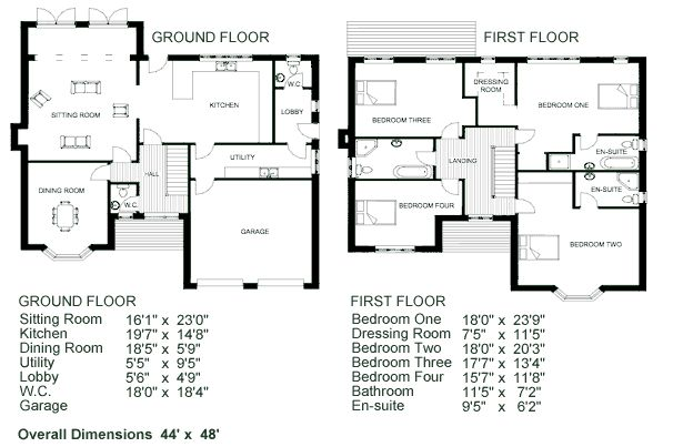 Awesome Simple 2 Story House Plans #12 2 Story House Floor