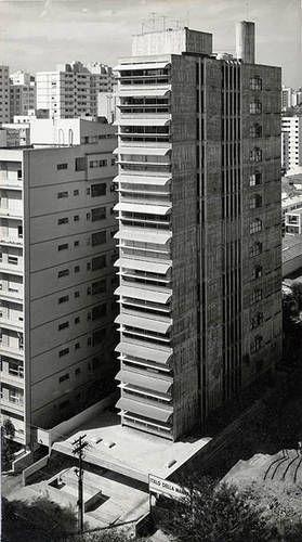 1964: Guaimbê Residential Building in São Paulo, Brazil by Paulo Mendes da Rocha
