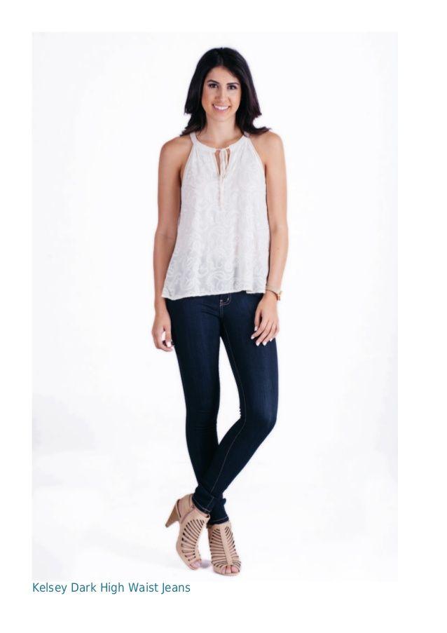 Kelsey Dark High Waist Jeans