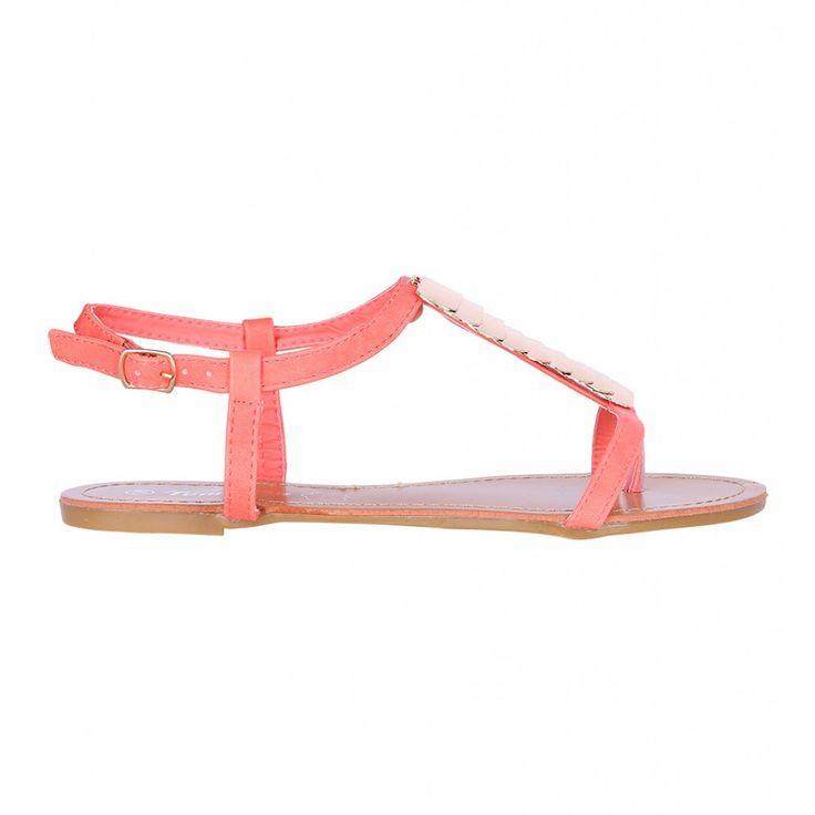 sandals,pink,koraal,roze,sandaaltjes http://www.loavies.com/fashion-nieuw/coral-coin-sandals.html