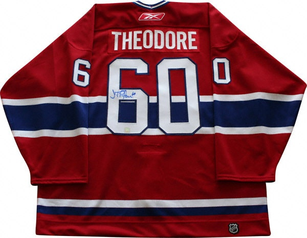 Jose Theodore - oddly enough, I have the autograph in the same place, only personalized and Koho instead of Reebok.