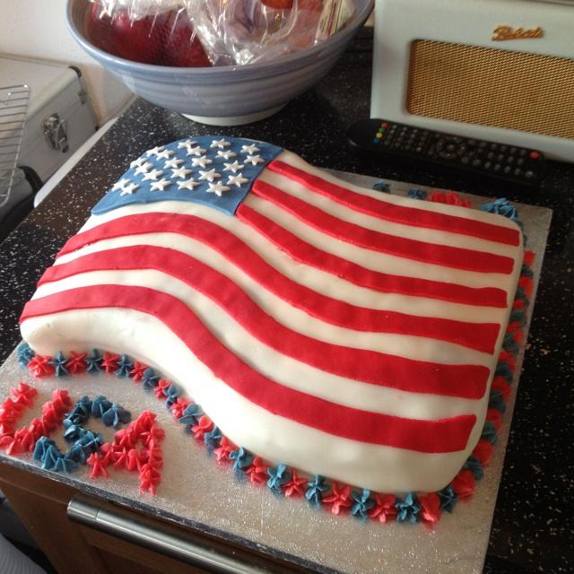 American flag cake usa