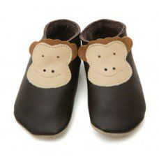 Monkey Chocolate Soft Leather Baby Shoes Made and supplied by Star Child Shoes in #Leicestershire - £18.00