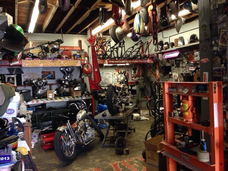 Man Cave Brats : Bike garage shed workshop man cave interiors and styles