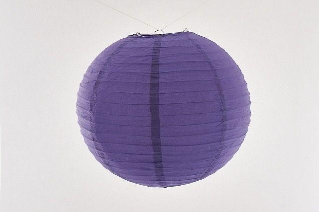 Lanterna di carta di riso da appendere, colore viola 30 cm, con gancio.