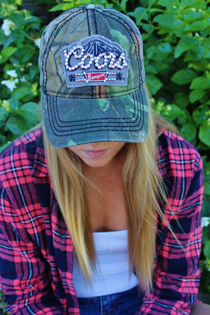 Coors Light Camo Rhinestoned Baseball Hat! Can purchase for $35! Like us on Facebook! Double M Tailgate