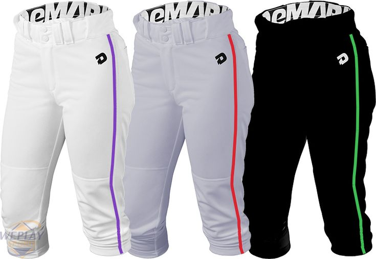 DeMarini ® Deluxe Womens Fastpitch Softball Pants w.Piping