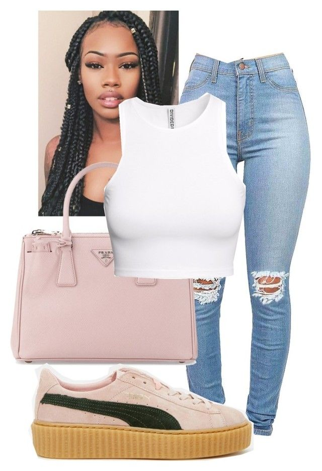 """I won't tell"" by myapaxton on Polyvore featuring Prada, H&M and Puma"