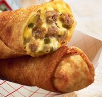 Cheeseburger Eggrolls wonton-and-egg-roll-wrapper-recipes