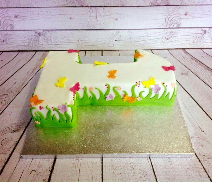 1st birthday spring cake