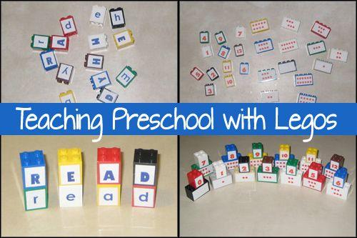 LEGO fun for preschool: Lego Fun, Teaching Reading, Lego Preschool Ideas, Education Ideas, Kids Ideas, Teaching Ideas, Teaching Preschool, Lego Ideas, Lego Letters