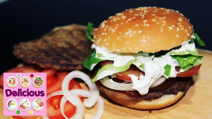 Homemade Whopper Recipe - How to Make Whopper Burger King - Whopper burg...