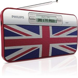 This DAB/FM Radio from Philips really is a novelty gift idea. Love the Union Jack design. Battery or Mains Operated, with a headphone jack.