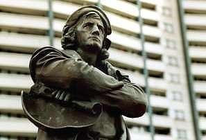 Die Columbus-Statue in Bremerhaven