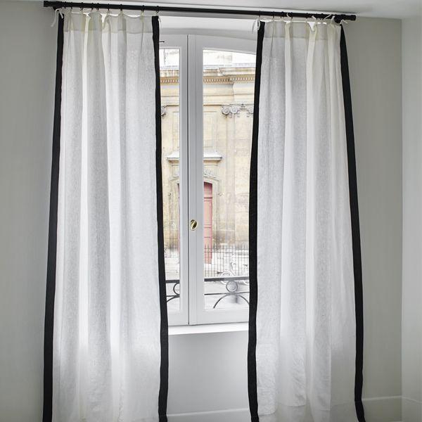 17 meilleures id es propos de rideau lin blanc sur pinterest rideaux de lin blancs rideau. Black Bedroom Furniture Sets. Home Design Ideas
