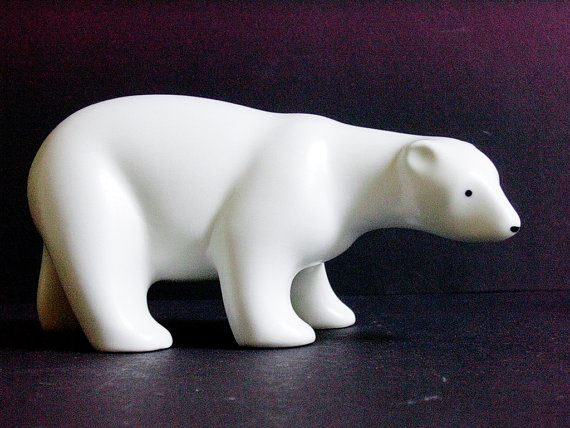 Arabia Finland Porcelain Polar Bear by Richard Lindh