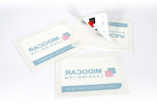 Stickere imprimate UV policromie & alb