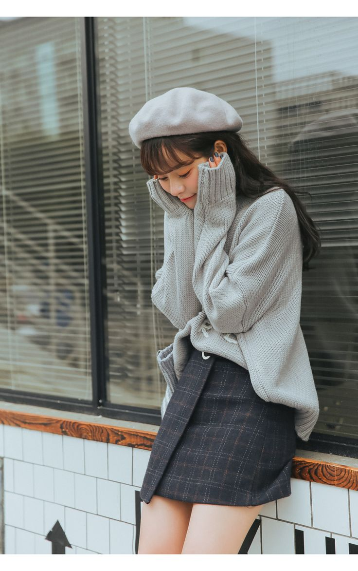 2017 kawaii mujeres faldas otoño e invierno espesamiento delgado de la cadera falda a cuadros de lana vintage japonés harajuku alta cintura de la falda en Faldas de Moda y complementos de mujer en AliExpress.com | Alibaba Group