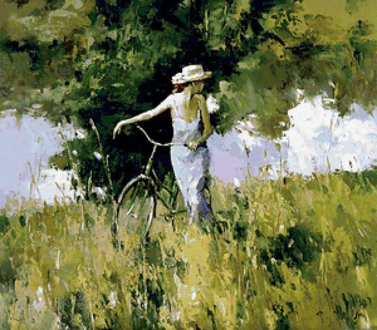 картина девушка с велосипедом автор: 21 тыс изображений найдено в Яндекс.Картинках