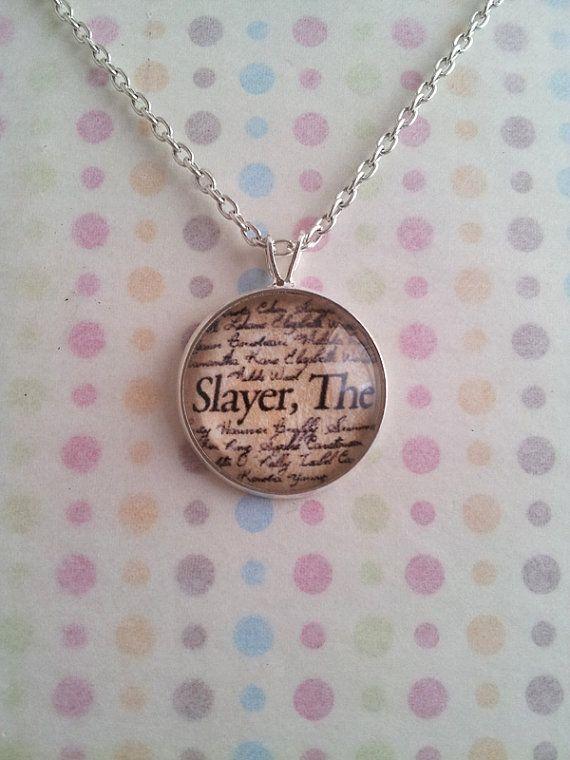 "Buffy The Vampire Slayer ""Slayer, The"" Necklace on Etsy, $11.00"