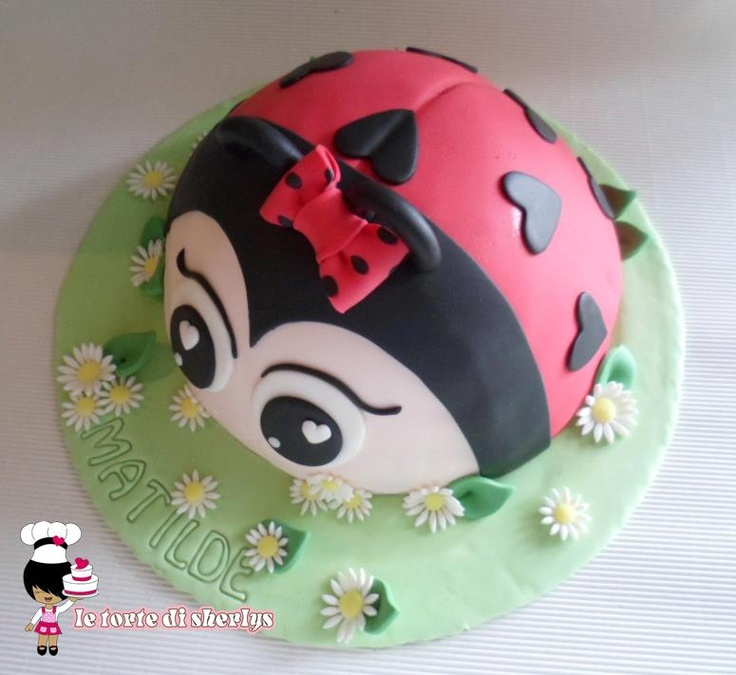 ladybug cake - coccinella torta