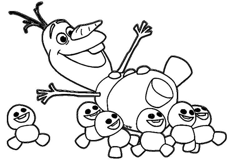 olaph coloring pages | Olaf-and-snowgies-coloring-pages.gif (1203×845) | Paint ...