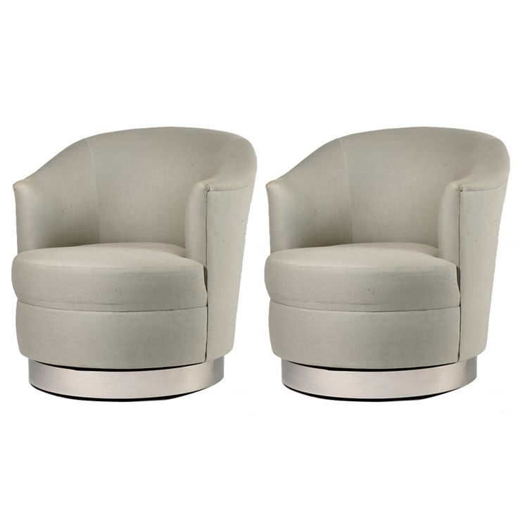 Pair of Karl Springer Swivel Club Chairs | From a unique collection of antique and modern swivel chairs at https://www.1stdibs.com/furniture/seating/swivel-chairs/