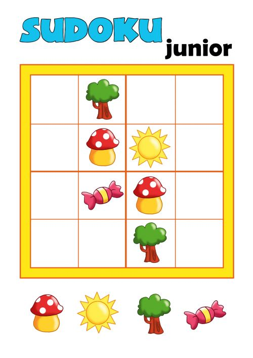 Provide your child with a little brain teaser with this free worksheet! On this worksheet you will find a beginner's sudoku puzzle for