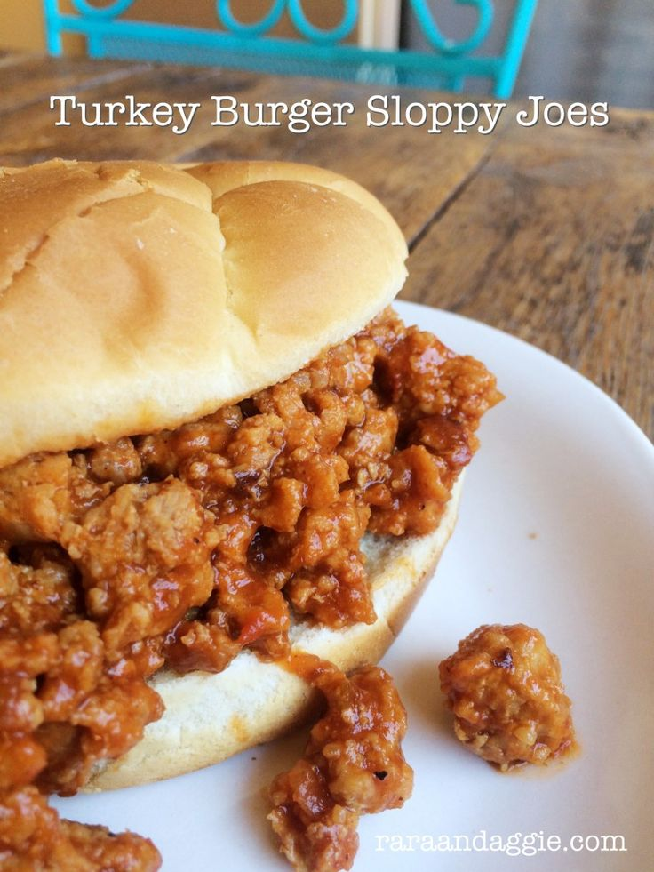 Turkey Burger Sloppy Joes http://www.raraandaggie.com/kid-friendly-recipes/turkey-burger-sloppy-joes/