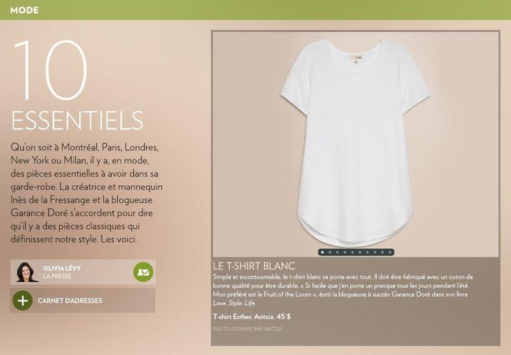 10 Essentiels   Qu'on soit à Montréal, Paris, Londres, New York ou Milan, il y a, en mode,  des pièces essentielles à avoir dans sa garde-robe.   La Presse