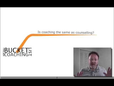 Trevor Lund of http://MoreThanABucketList.com answers the question:Is coaching the same as counselling?I have done a lot of counselling over the years and towards coaching in much of it. I hold you capable. I know you have the answers. My job as a coach is to draw out your answers for your questions. Still the big difference between coaching and counselling is that counselling looks behind at the causes of your problems while coaching looks ahead to help you get through them.Find out more at…