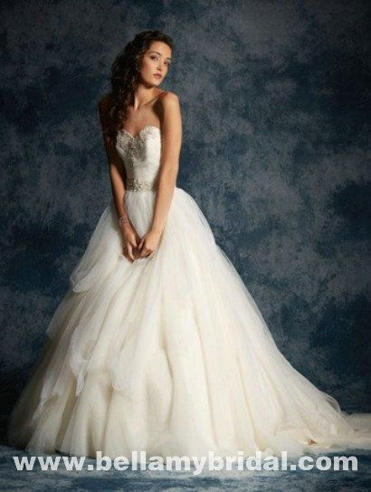 Alfred Angelo Sapphire 952 ballgown Crystal And Embroidery And Beading And…