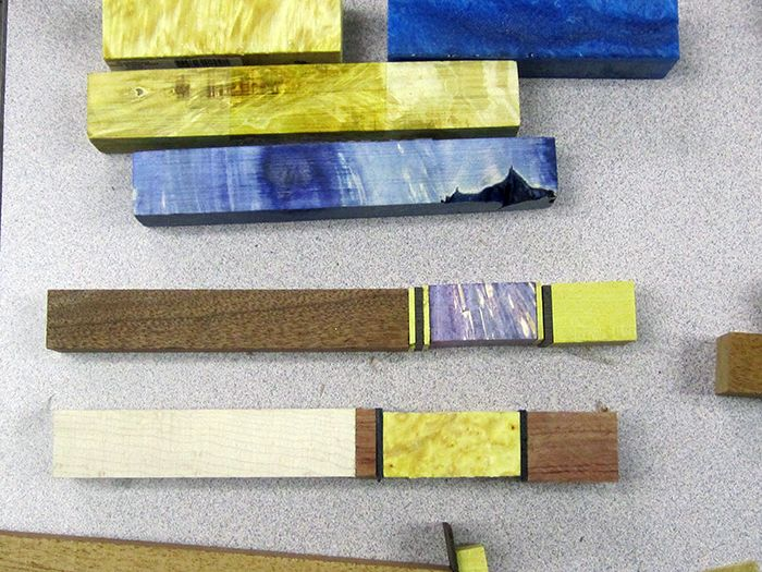 My recent acquisition of double dyed stabilized wood. I recently discovered stabilized wood after several attempts to color  turned pens with Transtint dyes and transparent acrylic paints. I could not get the color depth I was hoping for with surface dyes. The stabilized double dyed boxed elder burl wood blanks are the answer for my color and texture quest.