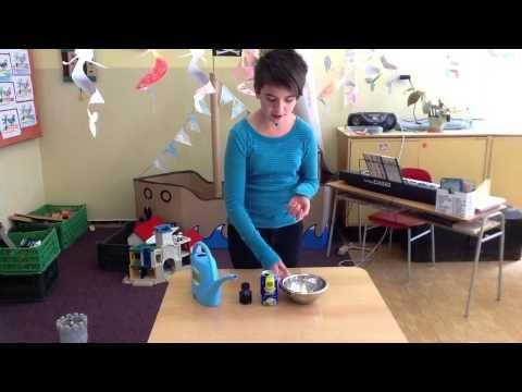 Slepování vody - soudržnost molekul vody