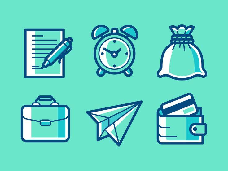 Some icons for my portfolio site.