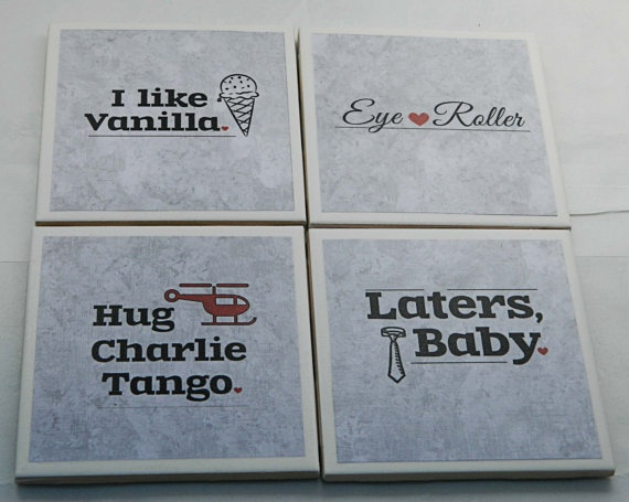 coasters...Fifty Shades of Grey style!