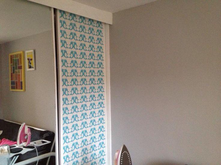 Wallpaper the sliding wardrobe doors guest bedroom ideas pinterest shadows wardrobe