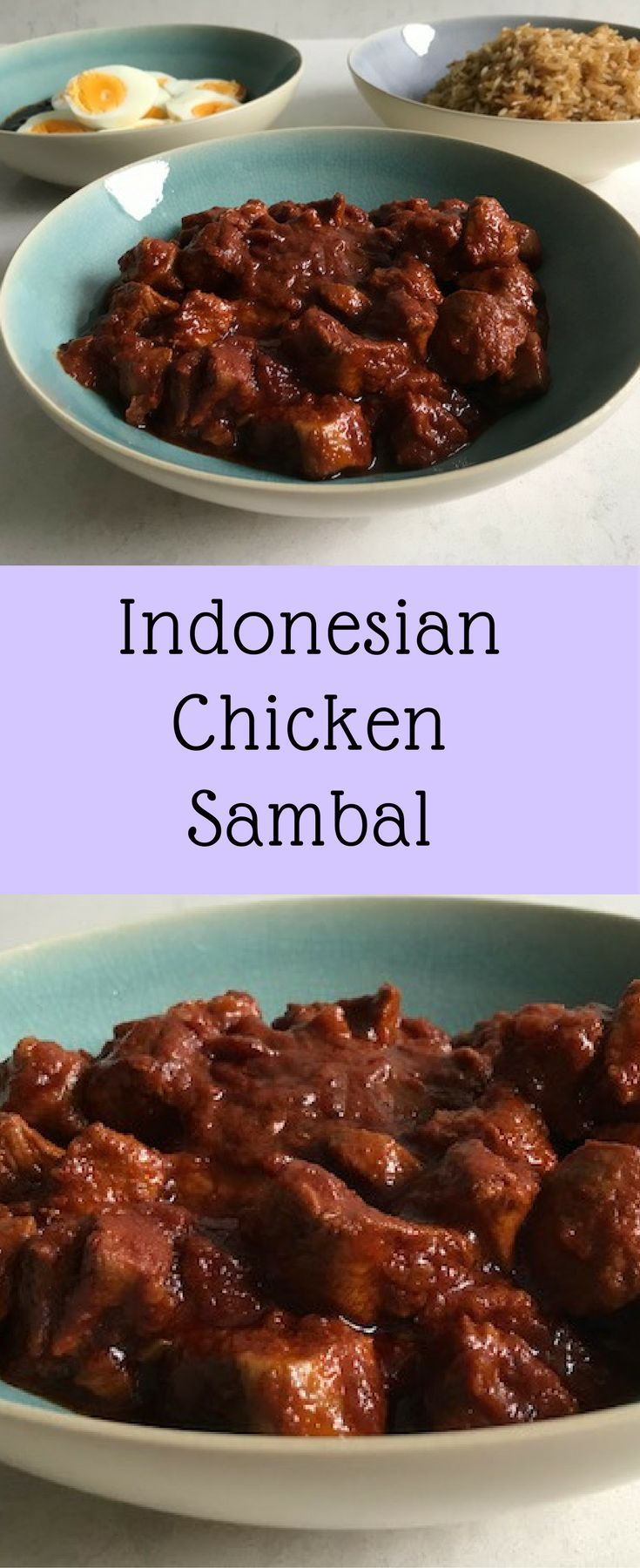 Tender chicken breast cooked in a spicy sambal ( chili paste) sauce is a fine example of the great Indonesian cuisine.