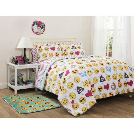 Emoji Pals Bed in a Bag Bedding Set- Online Only - Walmart.com