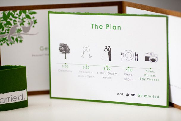Cute schedule - Contemporary Canucks Wedding in Vancouver via Wedding Obession