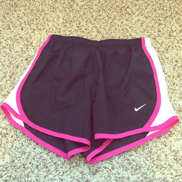 Closet closing 12/6! Nike Dri Fit shorts Closet closing Dec. 1! Size youth large. Fits slightly smaller than a normal size small. I wear a small and these fit but were just a tad on the small side. Worn maybe a couple times. Pic 3 shows a VERY SLIGHT white mark. Nike Shorts
