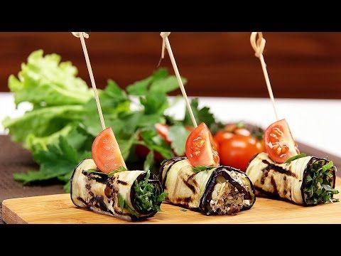 Рулетики из баклажанов с сыром, орехами и зеленью. Готовит Уриэль Штерн - YouTube