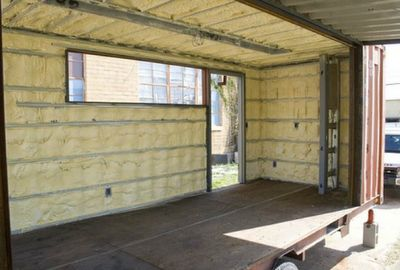 Shipping Container Homes Spray Foam Interior Insulation In