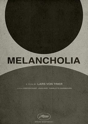 Have pinned an image from Melancholia before, but this graphic image shows an abstract idea of what Melancholia is about.