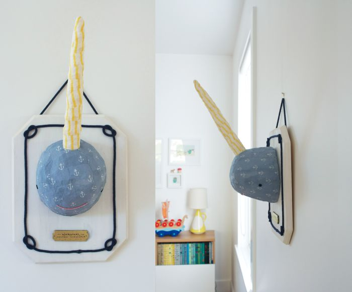 narwhal: Narwhal Craft, Ideas, Diy Narwhal, Art, Mounted Narwhal, Narwhals, Kids Room Projects Narwhal, Kids Rooms, Crafts